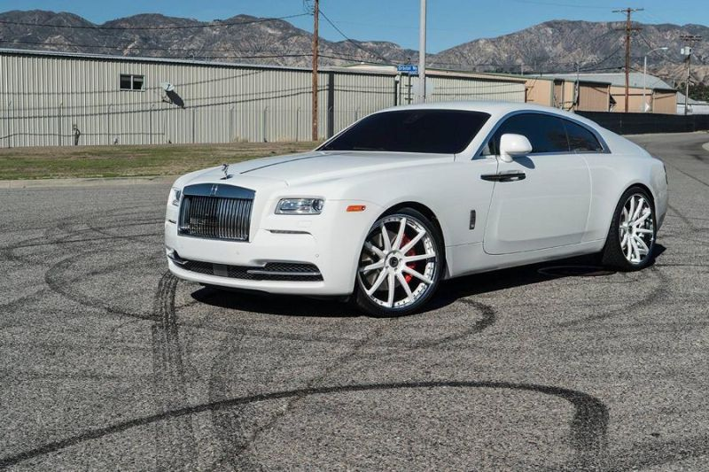 Forgiato Wheels Felgen Tunnig Rolls Royce Wraith 2 Weiße Forgiato Wheels Alu's am Rolls Royce Wraith