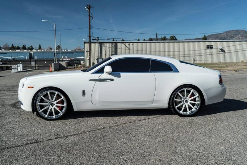 Forgiato Wheels Felgen Tunnig Rolls Royce Wraith 5 Weiße Forgiato Wheels Alu's am Rolls Royce Wraith