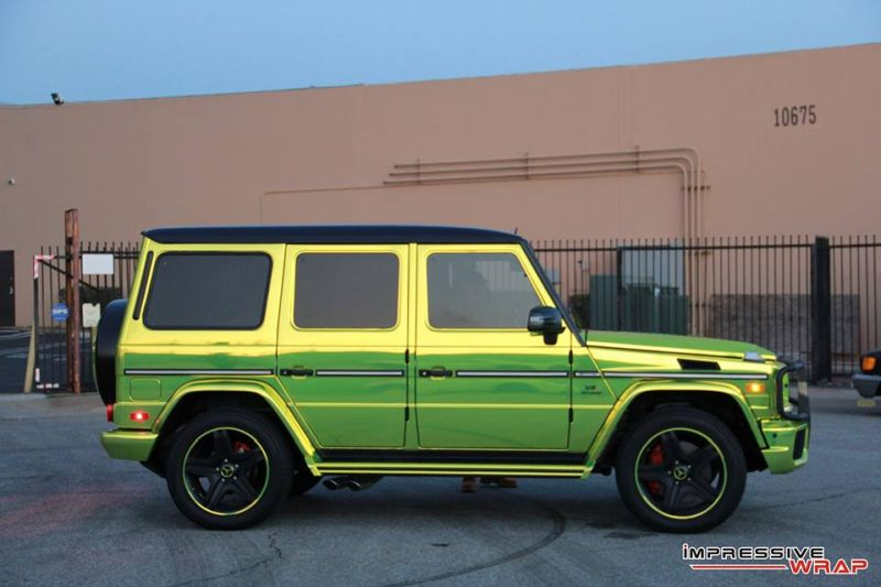 Lime Green Mercedes G Class tuning car 10 Chromgrüne Folierung am Mercedes G von Impressive Wrap