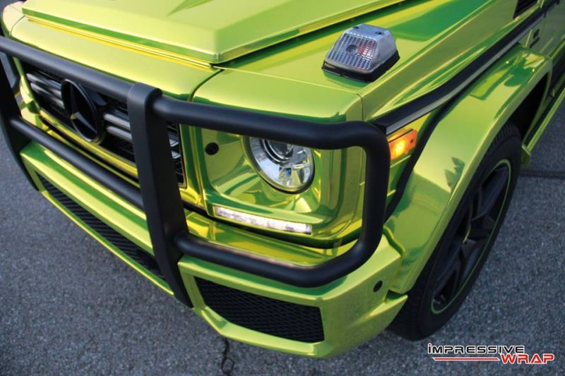 Lime Green Mercedes G Class tuning car 2 Chromgrüne Folierung am Mercedes G von Impressive Wrap