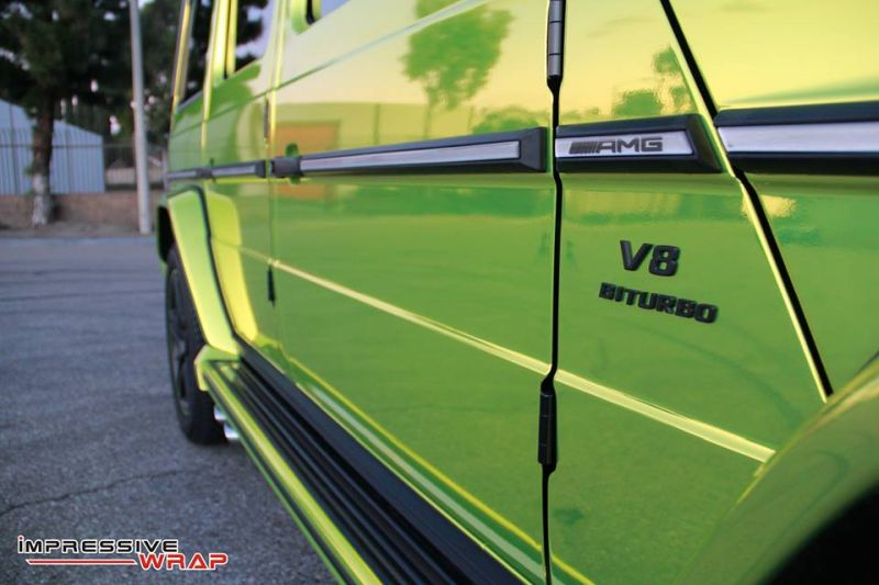 Lime Green Mercedes G Class tuning car 7 Chromgrüne Folierung am Mercedes G von Impressive Wrap