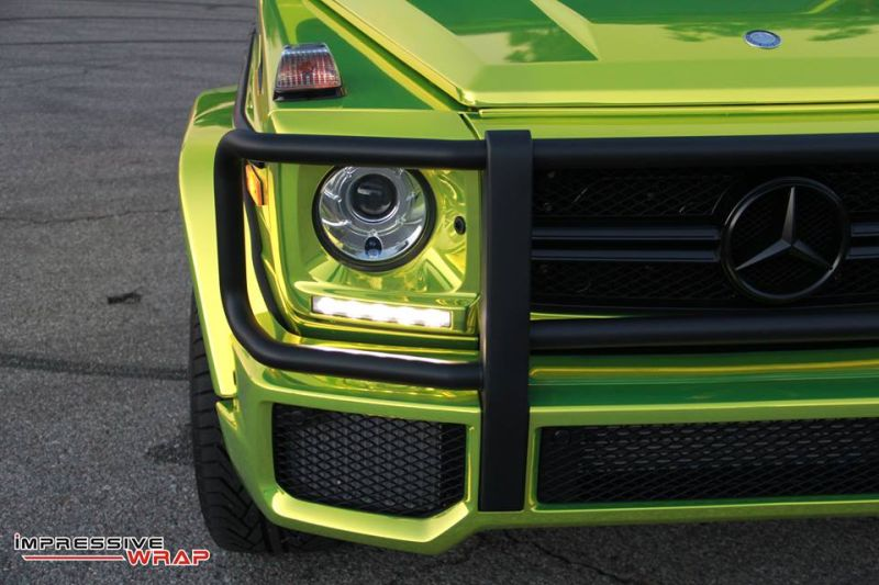 Lime Green Mercedes G Class tuning car 8 Chromgrüne Folierung am Mercedes G von Impressive Wrap