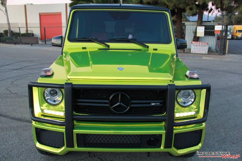 Lime Green Mercedes G Class tuning car 9 Chromgrüne Folierung am Mercedes G von Impressive Wrap