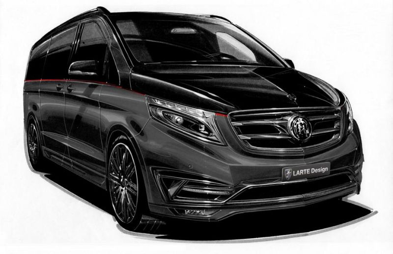Mercedes V Klasse Black Crystal Larte Design 3 Mercedes V Klasse Black Crystal by Larte Design