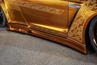 Nissan GT R Kuhl Racing Widebody Gold 16 190x127 IZ Metal & Candy Painting: das Autos als fahrendes Kunstwerk