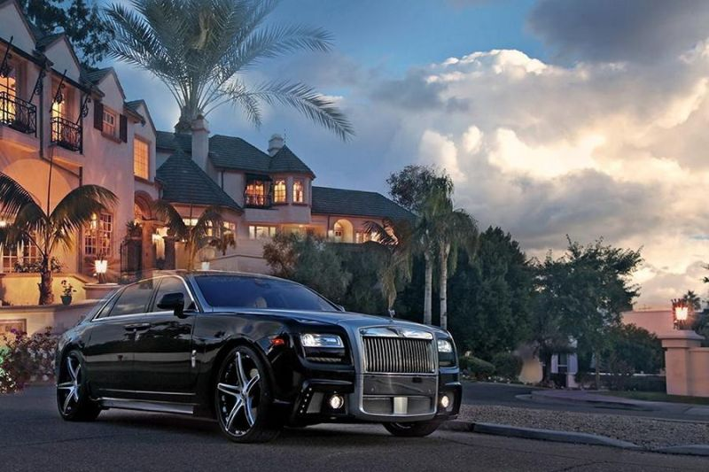 Wald Rolls Royce Ghost F 3 Rolls Royce Ghost Black Bison Edition auf Forgiatos
