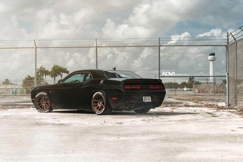 adv1 challenger hellcat matte bronze 5 Dezent aber böse   Dodge Challenger Hellcat auf ADV.1 Wheels