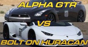 alpha gtr and bolt on huracan square off in an epic drag race 1 e1452140994606 310x165 Video: R1Motorsports Lamborghini Huracan gegen R1Motorsports Nissan GTR