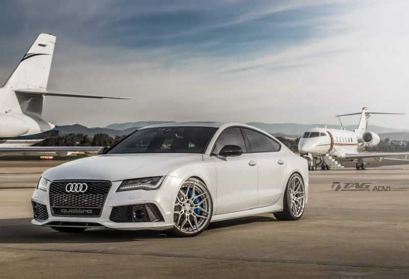 audi rs7 suzuka grey sedan adv1 wheels forged 7 spoke rims 2 21 Zoll ADV7 MV2 Alu's am TAG Motorsports Audi RS7
