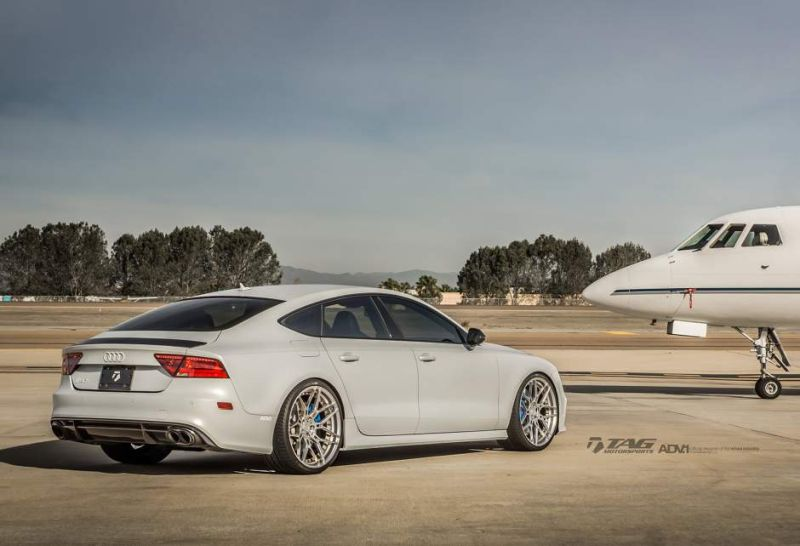 audi rs7 suzuka grey sedan adv1 wheels forged 7 spoke rims 3 21 Zoll ADV7 MV2 Alu's am TAG Motorsports Audi RS7