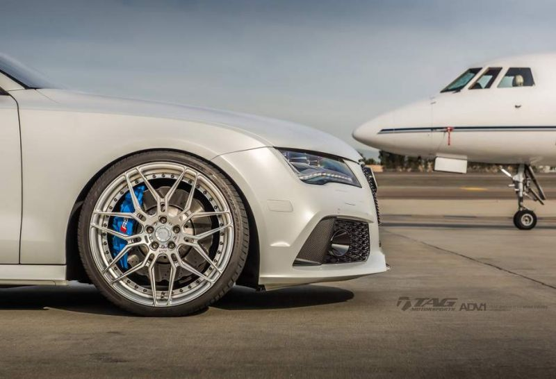 audi rs7 suzuka grey sedan adv1 wheels forged 7 spoke rims 6 21 Zoll ADV7 MV2 Alu's am TAG Motorsports Audi RS7