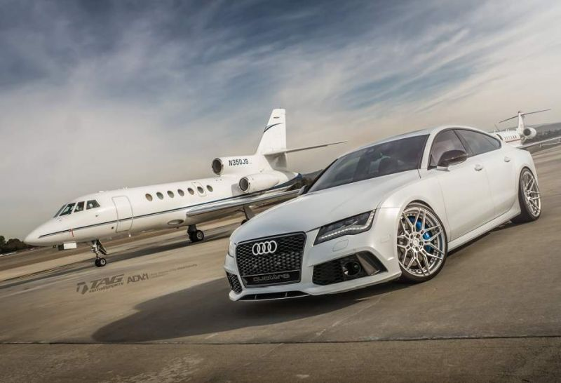 audi rs7 suzuka grey sedan adv1 wheels forged 7 spoke rims 9 21 Zoll ADV7 MV2 Alu's am TAG Motorsports Audi RS7