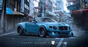 bentley widebody 10381 1 Rendering: Bentley Continental GT Cabrio extrem