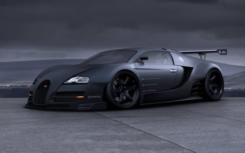 liberty walk bugatti veyron is not impossible 103530 1 Rendering: Super Breit   rc82 Bugatti Veyron im Liberty Walk Style