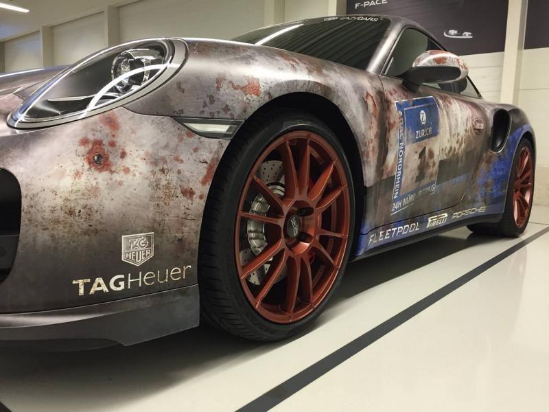 porsche 911 turbo rust 4 Porsche 911 (991) Turbo   irre RAT Look Folierung