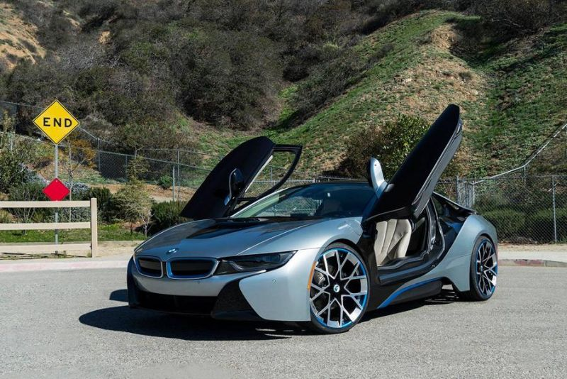 22 Zoll Forgiato Wheels BMW i8 blau Tuning 1 Schicke 22 Zoll Forgiato Wheels am BMW i8