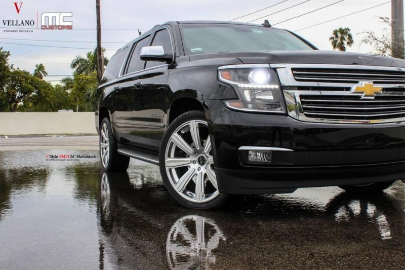 24 Zoll Vellano VM13 Alufelgen Tuning Chevrolet Suburban MC Customs 2 24 Zoll Vellano VM13 Alu's am Chevrolet Suburban
