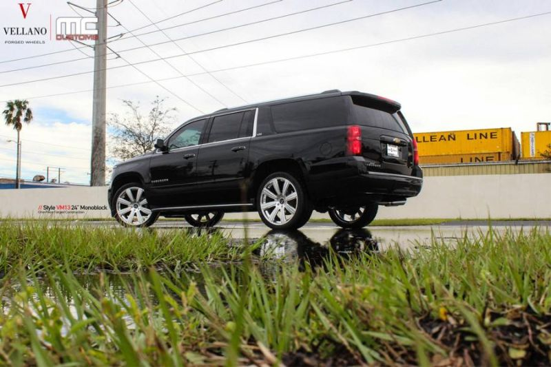 24 Zoll Vellano VM13 Alufelgen Tuning Chevrolet Suburban MC Customs 7 24 Zoll Vellano VM13 Alu's am Chevrolet Suburban