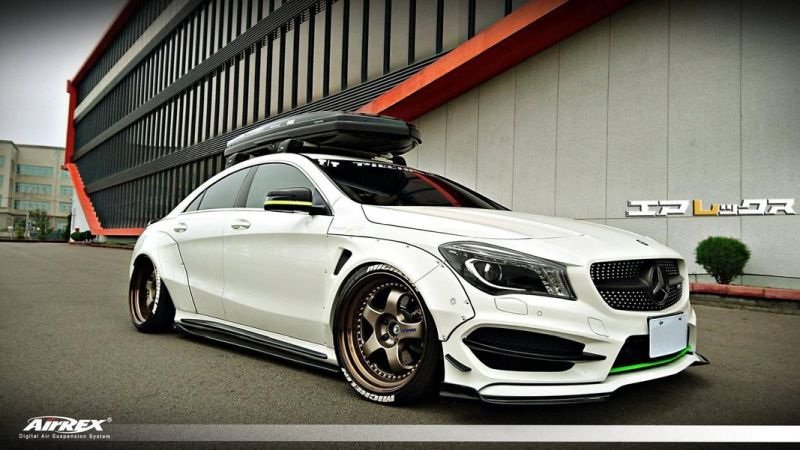 fairy design widebody volk alu s am mercedes cla45 amg. Black Bedroom Furniture Sets. Home Design Ideas