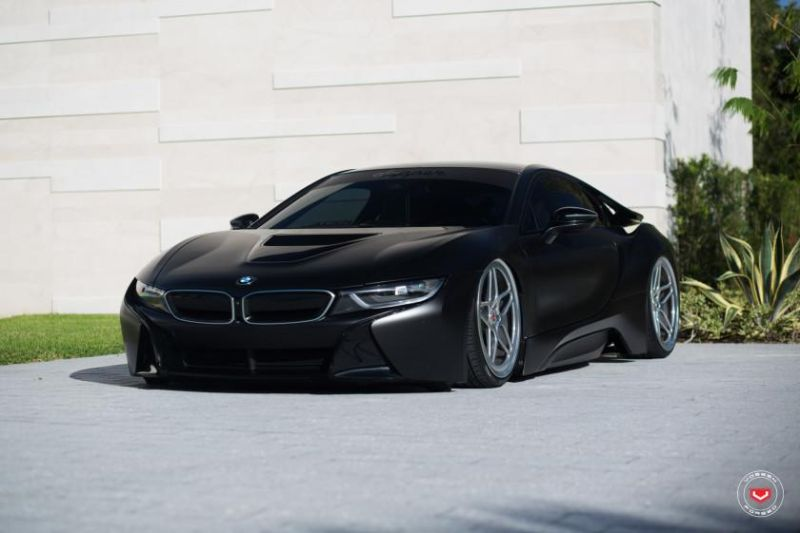Astray Cool Evil Bmw I8 In Matt Black On Vossen Lc 104 Alu S