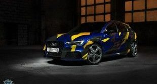 Blau Gelb Camouflage Audi RS3 DC Tuning 2 1 e1454405957633 310x165 Warum nicht   Blau/Gelb Camouflage Folierung am Audi RS3
