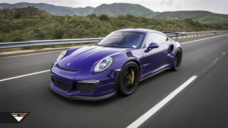 Carbon Bodykit Purple Beast Vorsteiner Porsche 911 991 GT3 RS 4 Carbon Bodykit am Purple Beast Vorsteiner Porsche 911 GT3 RS