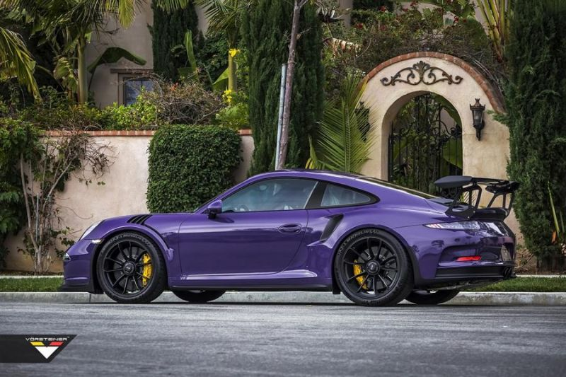 Carbon Bodykit Purple Beast Vorsteiner Porsche 911 991 GT3 RS 7 Carbon Bodykit am Purple Beast Vorsteiner Porsche 911 GT3 RS