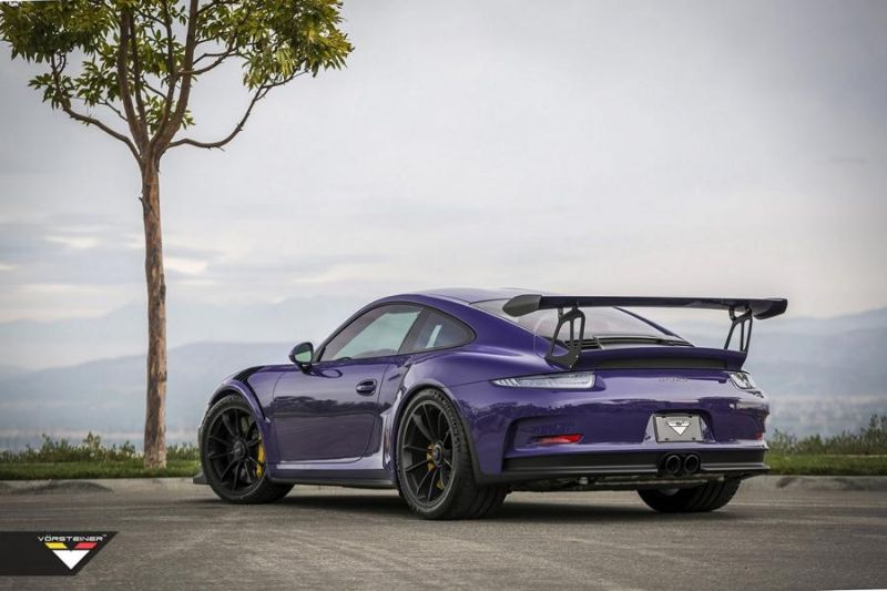 Carbon Bodykit Purple Beast Vorsteiner Porsche 911 991 GT3 RS 8 Carbon Bodykit am Purple Beast Vorsteiner Porsche 911 GT3 RS