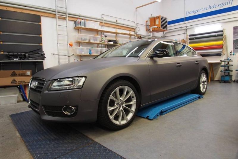 Dark Grey Matt Metallic Audi A5 by SchwabenFolia Tuning Folierung 1 Dark Grey Matt Metallic Audi A5 by SchwabenFolia
