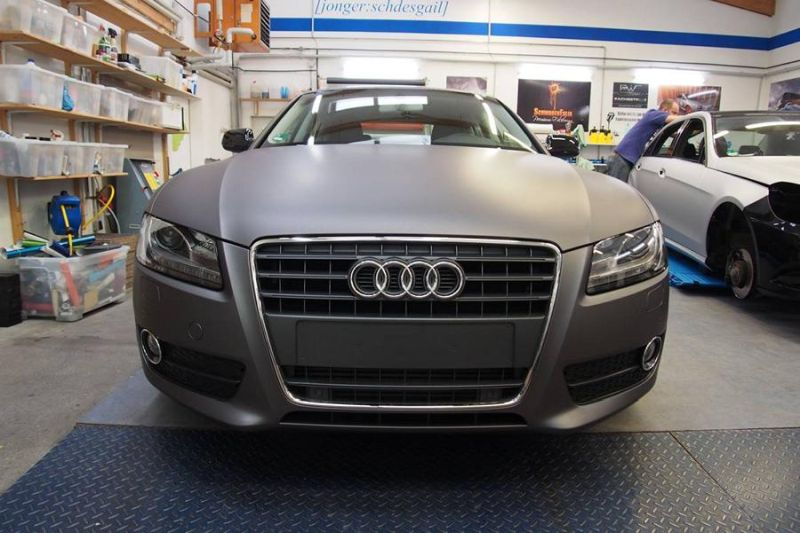 Dark Grey Matt Metallic Audi A5 by SchwabenFolia Tuning Folierung 2 Dark Grey Matt Metallic Audi A5 by SchwabenFolia