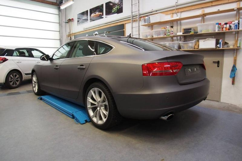 Dark Grey Matt Metallic Audi A5 by SchwabenFolia Tuning Folierung 3 Dark Grey Matt Metallic Audi A5 by SchwabenFolia