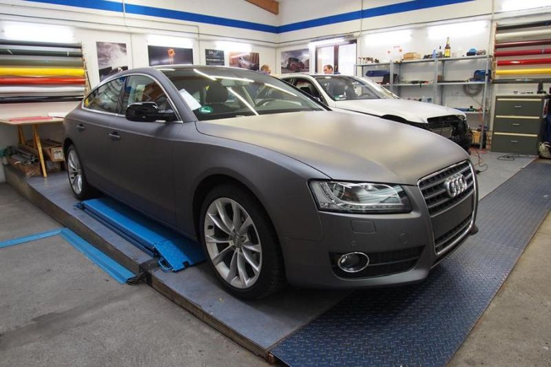 Dark Grey Matt Metallic Audi A5 by SchwabenFolia Tuning Folierung 4 Dark Grey Matt Metallic Audi A5 by SchwabenFolia