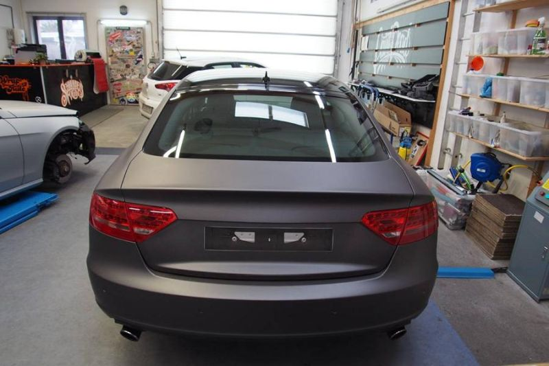 Dark Grey Matt Metallic Audi A5 by SchwabenFolia Tuning Folierung 5 Dark Grey Matt Metallic Audi A5 by SchwabenFolia
