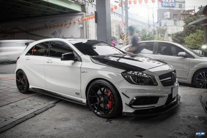 epd motorsports mercedes a45 amg mit rza 450 bodykit. Black Bedroom Furniture Sets. Home Design Ideas