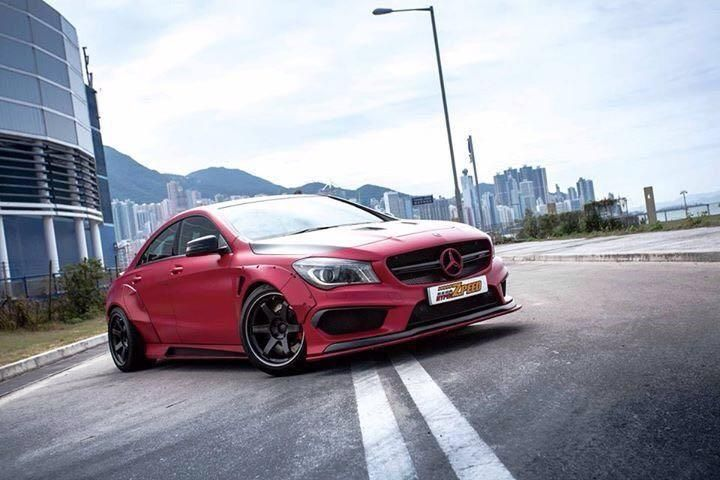 Fairy Design Widebody Kit Vivid Racing Mercedes CLA Exotics Tuning 1 Fairy Design Widebody & Volk Alu's am Mercedes CLA45 AMG