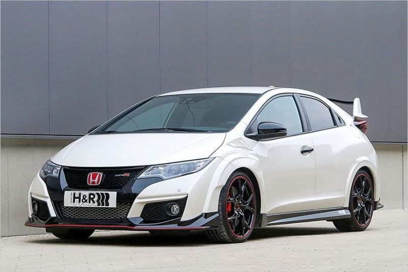 Honda Civic Type R Tuning HR Sportfedern 1  20mm im Honda Civic Type R Dank H&R Sportfedern