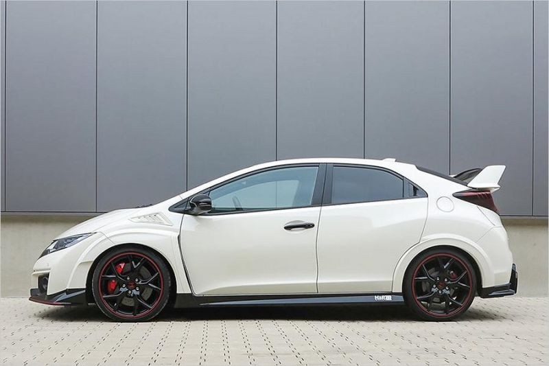 Honda Civic Type R Tuning HR Sportfedern 2  20mm im Honda Civic Type R Dank H&R Sportfedern