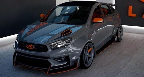 Lada Vesta mit AvtoVAT Widebody Kit 1 Verrückt Lada Vesta mit AvtoVAT Widebody Kit