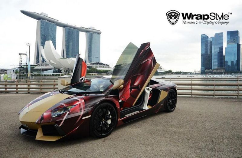 Marvel Superhelden Style WrapStyle Singapore 4 Fotoshow   Marvel Superhelden Style an Lambo & Co.