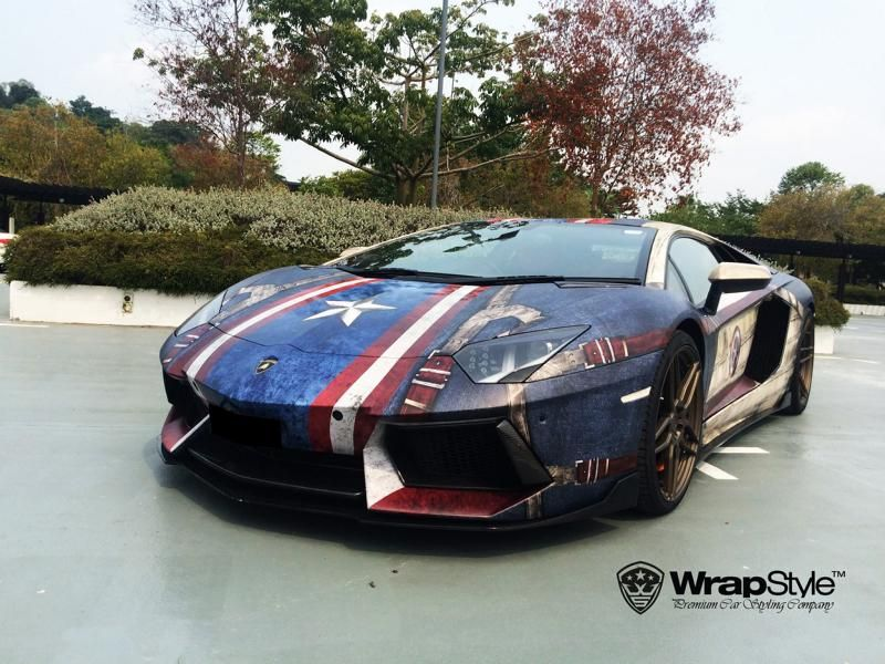 Marvel Superhelden Style WrapStyle Singapore 6 Fotoshow   Marvel Superhelden Style an Lambo & Co.