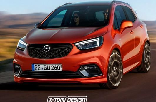 rendering potenter zwerg opel mokka x opc. Black Bedroom Furniture Sets. Home Design Ideas