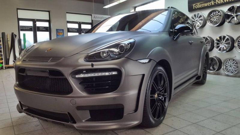 PD600 Bodykit Vollfolierung Prior Design Folienwerk-NRW Porsche Cayenne Turbo Tuning 1
