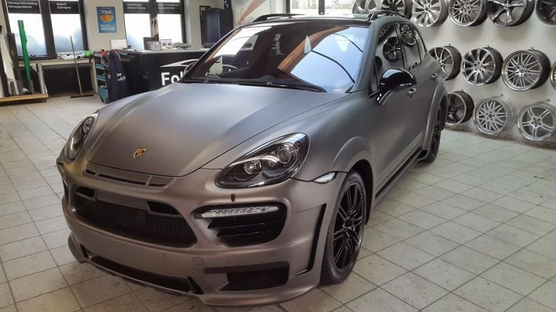 PD600 Bodykit Vollfolierung Prior Design Folienwerk-NRW Porsche Cayenne Turbo Tuning 2