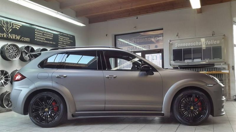 PD600 Bodykit Vollfolierung Prior Design Folienwerk-NRW Porsche Cayenne Turbo Tuning 3