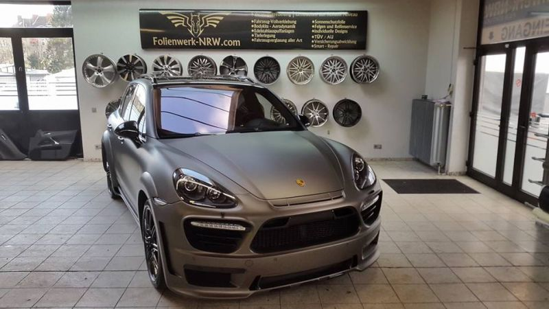 PD600 Bodykit Vollfolierung Prior Design Folienwerk-NRW Porsche Cayenne Turbo Tuning 4