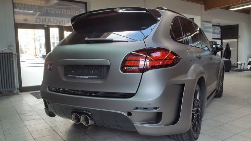 PD600 Bodykit Vollfolierung Prior Design Folienwerk-NRW Porsche Cayenne Turbo Tuning 5