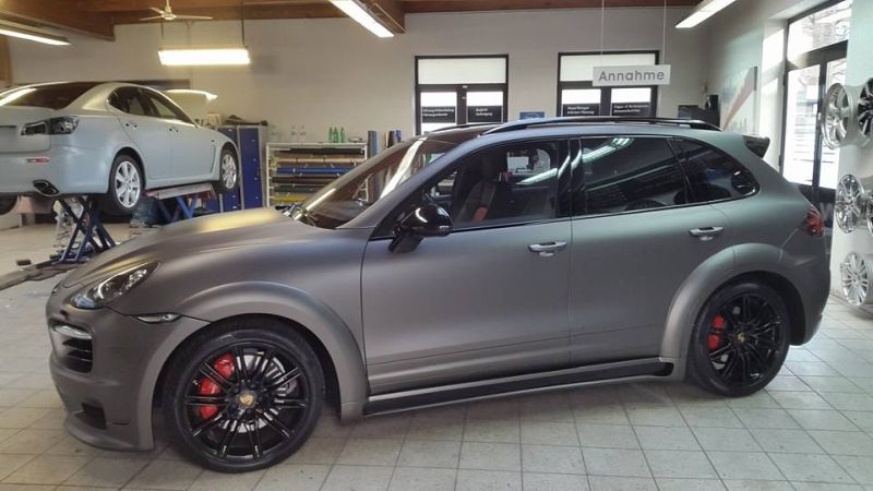 PD600 Bodykit Vollfolierung Prior Design Folienwerk-NRW Porsche Cayenne Turbo Tuning 6