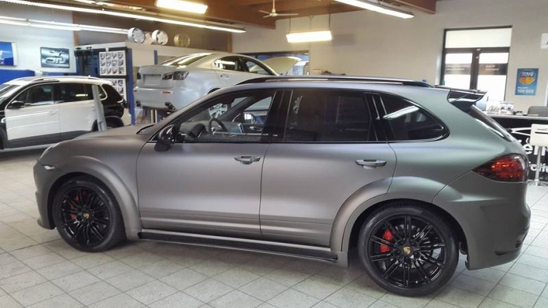 PD600 Bodykit Vollfolierung Prior Design Folienwerk-NRW Porsche Cayenne Turbo Tuning 7
