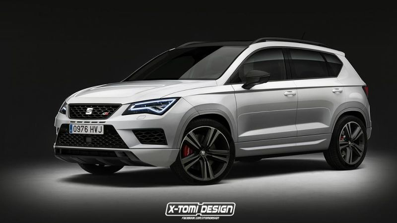 rendering seat ateca cupra tuning by x tomi design. Black Bedroom Furniture Sets. Home Design Ideas