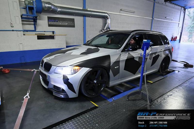 BMW 335D E91 Chiptuning 373PS 792NM by BR Performance 1 BMW 335D E91 mit 373PS & 792NM by BR Performance